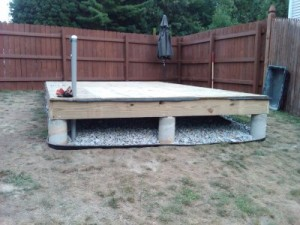dismantle a floating deck
