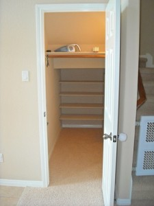 under stairs closet organization