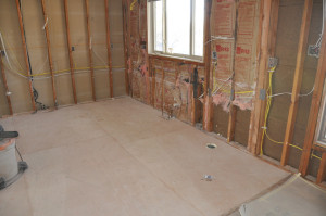 prep a room for tile