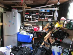 storage shed clean out