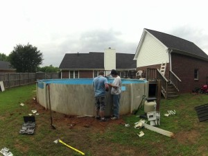 above ground pool dismantle